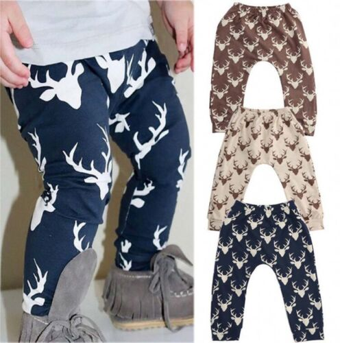 Kids Baby Boys Girls Printed Clothes Elastic Harem Pants Toddler Trousers