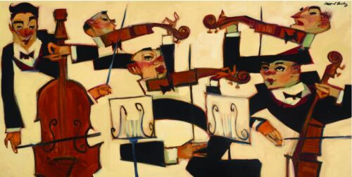 STRING SECTION - High Quality Print by Clifford Bailey