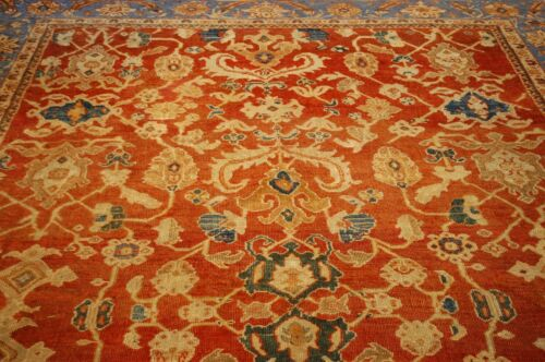c 1880s ANTIQUE MUSEUM AGE ROOM SIZE  SULTANABAD MAHAAL RUG 8.8x10.10