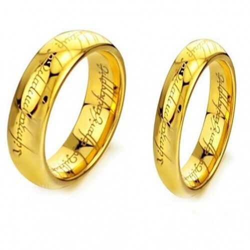 18K Gold GP Simple Classic Couple Rings White gr2014194
