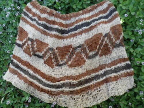 Vintage Traditional old hand woven Bilum bag Sepik River PNG Papua New Guinea