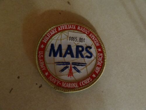 Us Patch Hook And Loop Back Mars Military Affiliate Radio System 3 Inches Round