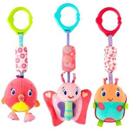 Bright Starts Pretty In Pink Chime Along Friends, Butterfly, Lady Bug, Shower