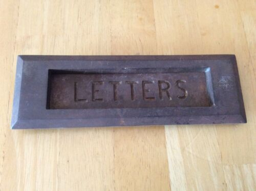 Vintage Solid Brass Letter Mail Slot Door Antique