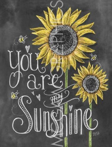 """LILY & VAL, LLC. - YOUR ARE MY SUNSHINE - ART PRINT POSTER 14"""" x 11"""" (4407)"""