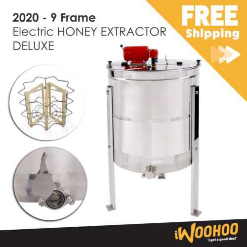 9 Frame Deluxe Electric Honey Extractor <br/> FREE Delivery