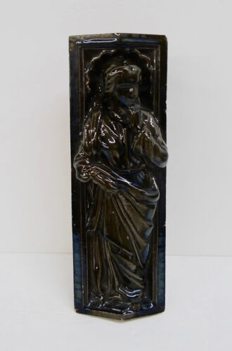 Antique Architectural Tile with Robed Female