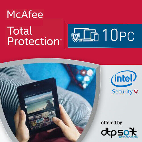 McAfee Total Protection 2021 10 PC 1 Year License Internet Security 2021 AU