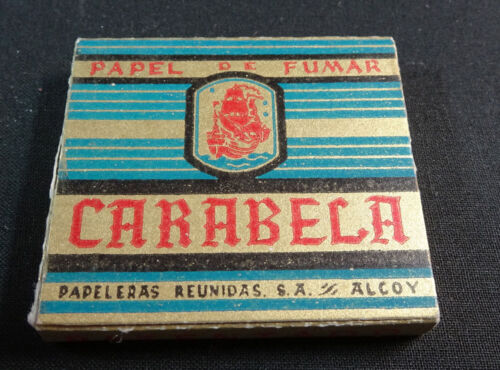 ANTIQUE CIGARETTE ROLLING PAPER CARABELA EARLY 1900 TOBACCIANA COLLECTIBLES 11CC