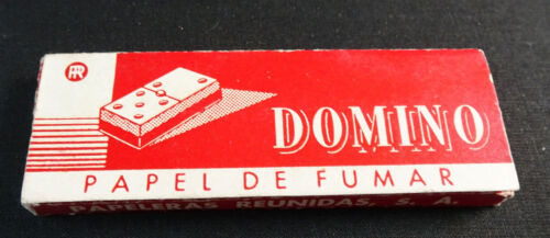 ANTIQUE CIGARETTE ROLLING PAPER DOMINO EARLY 1900 TOBACCIANA COLLECTIBLE 022PFCC