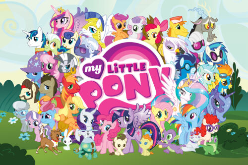 MY LITTLE PONY - CAST OF CHARACTERS POSTER - 24x36 - 241225