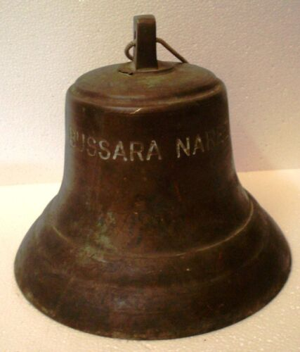 Vintage BUSSARA NAREE Marine Brass BELL - Great Sounding  - Ship's Original