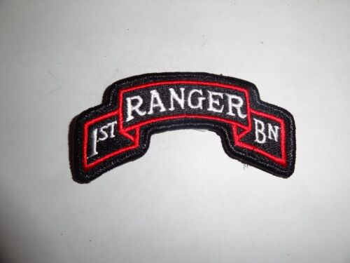 Patch Military Shoulder Tab 1st Ranger Battalion Scroll Colored Sew On New 4 In.