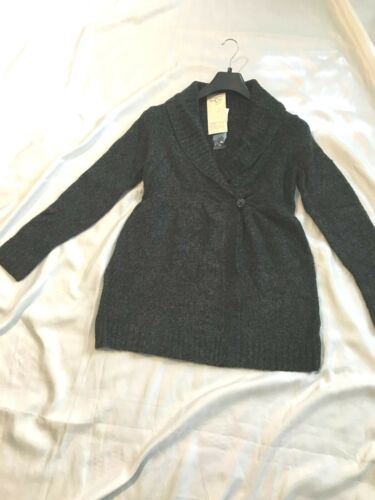 oh Baby By Motherhood: Open Front/Outerwear Sweater 1 Button Closure:Gray,S, M,L