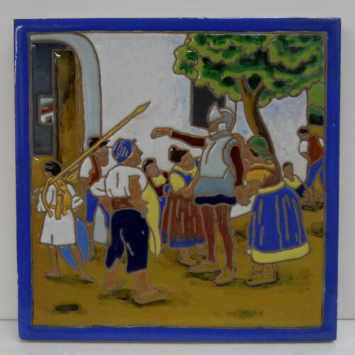 Large Don Quixote Spanish Tile by Mensaque