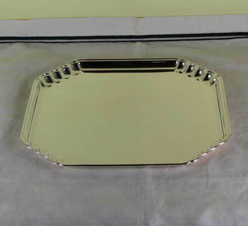 Silver Square Salver, Shaped Corners 11 in.