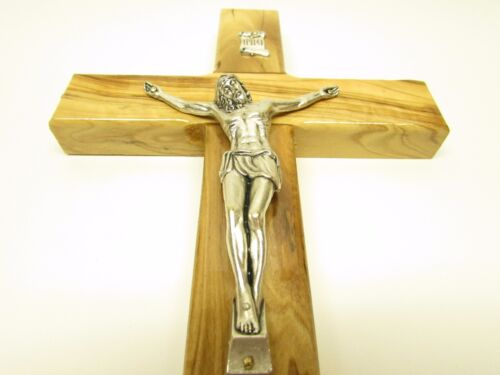 """10"""" Large Olive Wood Crucifix - Hanging Wall Cross - Hand made in the Holy Land"""