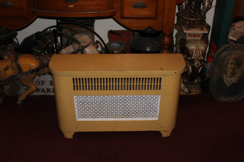 Vintage Metal Radiator Cover Grate Furniture W/Lid That Lifts-Large Size Vent