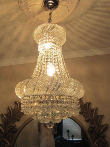 Crystal Chandelier French Empire Chandelier K9 Crystal H24 W16 24x16 CLEARANCE