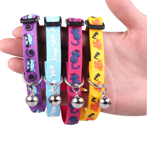 Adjustable Cat Dog Collars Puppy Ring Bell Collars Durable Safety Control Collar