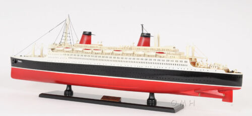 """SS France Ocean Liner Wooden Model 32"""" French Cruise Ship New"""
