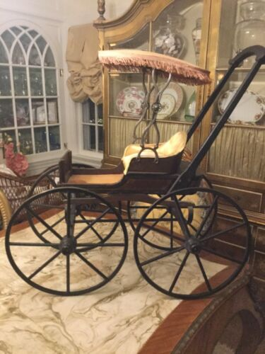 19 Century Elaborate Doll Carriage