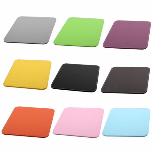 Computer Laptop PU Leather Water Resistance Hard Mice Mat Test Gaming Mouse Pad
