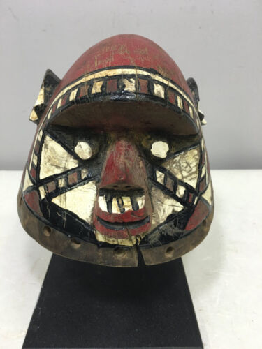 African Mask Burkina Faso Red Mossi Monkey Helmet Mask