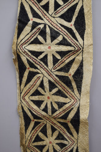 Papua New Guinea Tapa Cloth New Britain Bark Natural Dyes