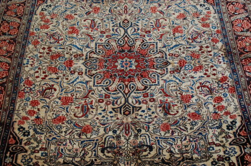c1930s ANTIQUE EXCLUSIVE FINE BIJAR RUG 4.9x6.10 HIGHLY DETAILED_BEAUTY