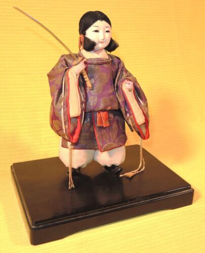 EMPRESS JINGU MUSHA GOFUN DOLL WITH BEAUTIFULLY DETAILED COSTUME, TAISHO 1920's