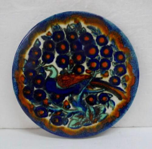 Round Bird Tile Attributed to Tudor of California