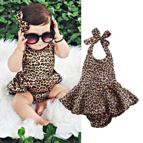 Newborn Toddler Baby Girl Dress Bodysuit Romper Jumpsuit Outfits One-pieces