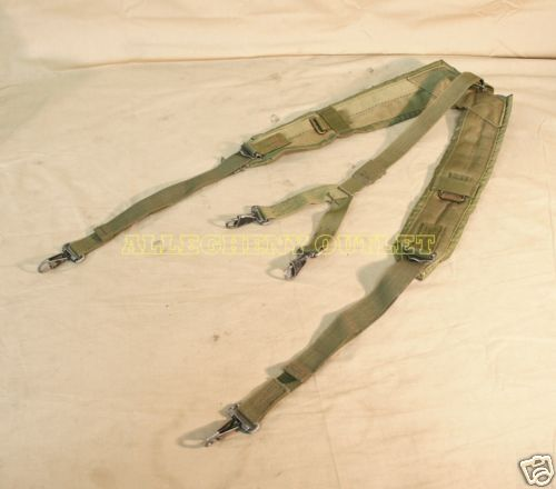 US Military Alice Y SUSPENDERS LBE Load Bearing Shoulder Web Harness OD FairOther Current Field Gear - 36071