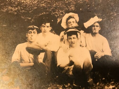 """Vintage Black & White Cabinet Card Photo of Young Ruffians 5.5"""" X 6.5"""""""