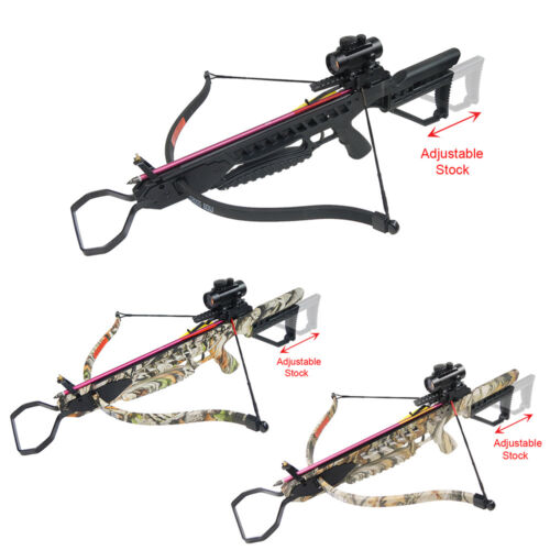 175 lb Black / Camouflage Hunting Crossbow Bow +7 Arrows +Stringer +Wax 150Crossbows - 33972