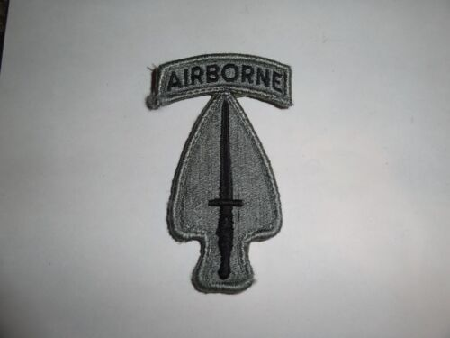 Military Patch Us Army Combat Used Acu Hook Loop Set Usasoc Special Operations