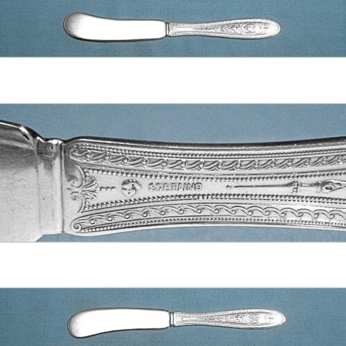 INTERNATIONAL STERLING FLAT HANDLE BUTTER SPREADER(S) ~  WEDGWOOD ~ MONO GLK