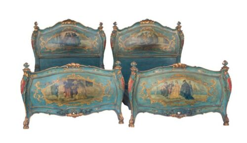 Pair of Venetian Italian Twin Beds