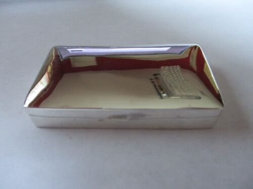 Sterling Silver Pill Box Solid 925 Silver Very Large Rectangle shape Hallmarked