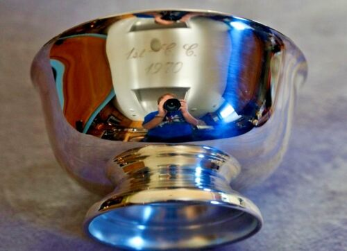 Antique Sheridan Silverplate Massachusetts USA Made Revere Style Bowl Circa1970