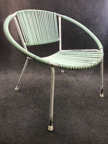 Mid Century Modern Ames Aire String Patio Lounge Hoop Chair