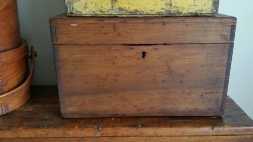 EARLY ANTIQUE DOVETAILED FLAT TOP CHEST.....GREAT SIZE FOR STACKING. ..AAFA
