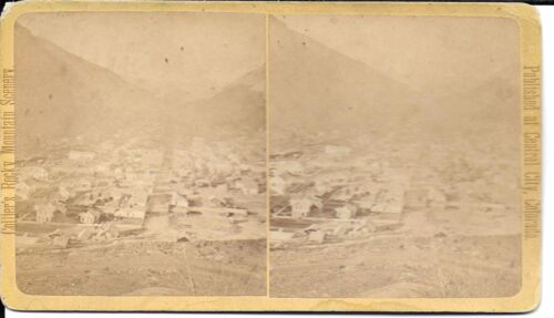 John Collier Stereoview of Georgetown Colorado from Leavenworth Mountain c1870s
