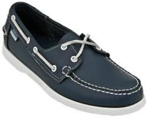 MENS SEBAGO DOCKSIDES NAVY LEATHER LACE UP BOAT SHOES