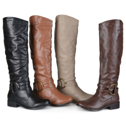 Journee Collection Womens Wide Calf Knee High Riding Boots New