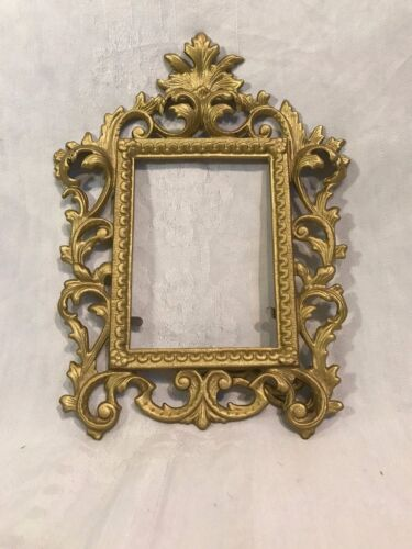 Vintage Wilton Ornate Brass Metal Picture Frame Victorian Rococo/Baroque Style
