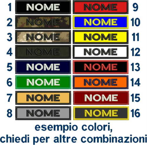 [Patch] NOME cm 12 x 3 toppa ricamo personalizzata ESERCITO SOFTAIR AIRSOFT Toppe e patch - 36070