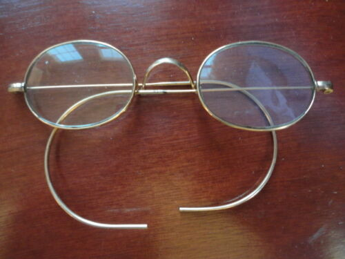 Eye Glasses 10*WO Co -12 Gold Spectacles Oval Frames Vintage
