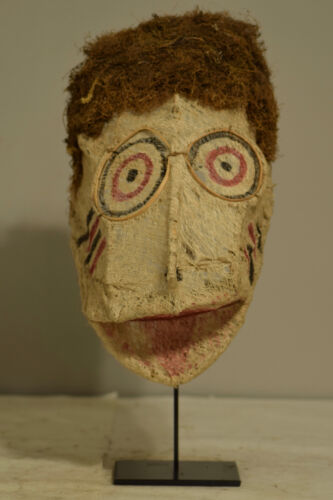 Papua New Guinea Doctors Baining Mask New Britain Bark Cloth Doctor Baining Mask